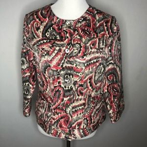 Ruby Rd. Patterned Denim Jacket
